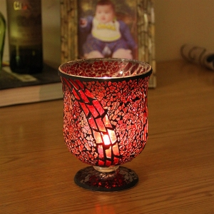 Retro glass candle ornaments garden candle holders,antique candle holder supplier