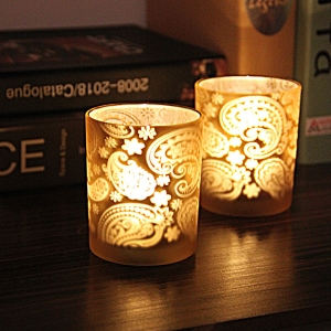 Retro light gold candle holder wholesale,stained glass candle holders