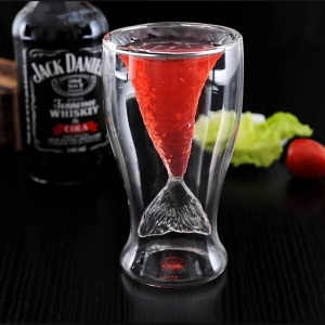Sales promotion double wine glass double beer glass,double wall cup wholesale