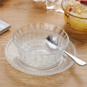 Sales promotion glass dessert bowls exporters