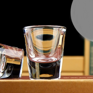 Shenzhen glass factory personalized 15ml shot glass custom wholesale