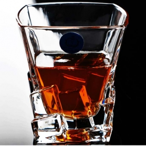Square personalized scotch whisky glasses wholesale