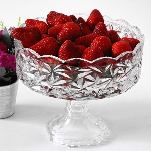Tall glass fruit bowl china glass plate manufacturer