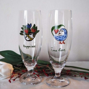Transparent mugs personalized hand painted wine glasses custom glass cup wholesale