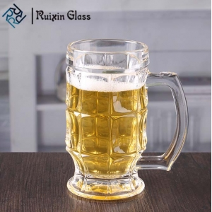 Wholesale 380ml unique shape chalice pint glasses  hand blown beer glasses in bulk