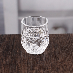 Wholesale cheap polygonal personalized shot glasses with capacity of 84ml