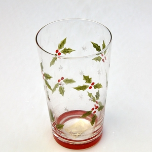 Wholesale custom hand painted drinking glasses christmas wine glass