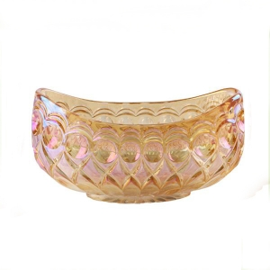 Wholesale electroplated boat shaped glass fruit bowl