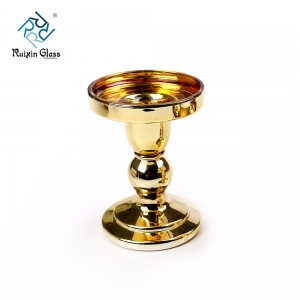 Wholesale glass pillar candle holders in china glass pillar candle holders supplier
