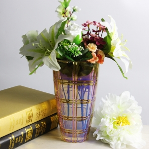 Wholesale vases electroplating glass flower vases and glass vases suppliers