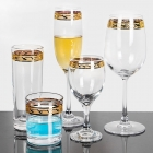 China 04 Gold Rimmed Wine Glasses Set factory