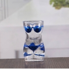 China 1.5 oz woman shaped shot glasses cheap sexy bikini shot glass wholesale factory
