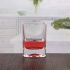 China 10 oz transparent square crystal whiskey glasses bar articles whisky glassware wholesale factory
