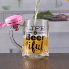 China 12 oz craft beer mug with bell customizable printing logo factory