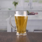 China 12oz cheap drinking glasses transparent beer glasses with handle factory
