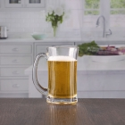 China 13oz wide mouth beer glass with handle wholesale customizable monogrammed factory