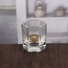 China 150ML hexagon fine whiskey glasses customized decal logo factory