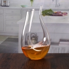 China 1700 ml large u-shaped crystal wine decanter wholesale factory