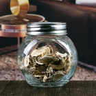 China 200 ml flat body clear glass jam jar with screw metal lids factory