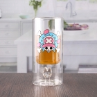 La fábrica de China 250ml 8oz etiqueta personalizada a prueba de calor de doble pared el vaso de cristal por mayor