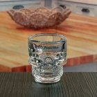 China 45 ml 1.5 oz bar skull shaped shot glass custom wholesale supply factory