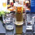 China 600ml and 900ml extra large glass beer mug supplier factory