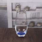 China 8 oz drinking water glass blue bottom glass tumbler wholesale factory