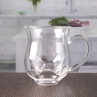 China 8oz double wall milk cup glass double wall mug with handle exporters factory