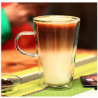 China Best double glass coffee cups with handle wholesale factory