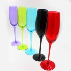China Blue champagne flutes customized champagne glasses manufacturer factory