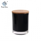 China CD066 Glass Candle Jars With Wooden Lids factory