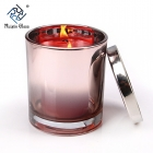 China CD068 Eco Friendly Glass Candle holder Custom Candle Jar Supplier factory