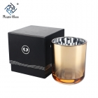 China CD071 Electroplated Crystal Gold Votive Candle Holders Wholesale fábrica