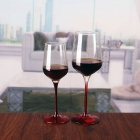 China Cheap goblets crystal wine glasses red stem wine glasses wholesale factory