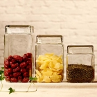 China China 2200ml square clear glass jars for sale exporters factory