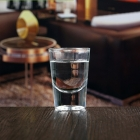 China China cheap 2 oz thick concave bottom branded shot glass for wedding factory