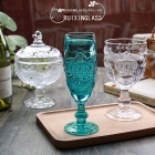 China China engravable champagne flutes blue champagne glasses wholesaler factory