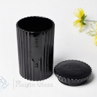 China China modern candle jar manufacturer luxury black glass candle jar with lids wholesale factory