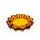 China China round carved glass ashtray manufacturer factory