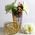 China China supplier hot selling gold electroplating glass vase manufacturer factory