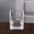 China Clear square glass candle holders navy blue square votive candle holders wholesale factory