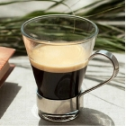 China Coffee mug with handle,clear coffee mugs,small glass coffee cups supplier factory