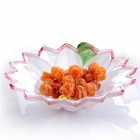 China Creative fashion trumpet lotus glass fruit plate,glass fruit plate wholesale factory