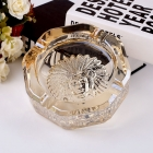 China Crystal clear glass ashtray cut glass ashtray personalized ashtray wholesale factory