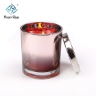 China Crystal glass candle jar with lid factory