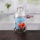 China Custom decal logo 660 ml empty sealed glass jar with dome lid wholesale factory