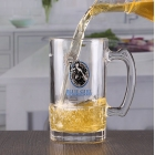 China Custom printed beer glasses 15 oz bar beer vessels cheap beer mug with handle factory