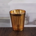China Decorative wall candle holders pretty golden votive candle holders bulk glass candlestick factory