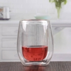 China Double wall borosilicate glass cup cute stemless red wine glasses wholesale factory