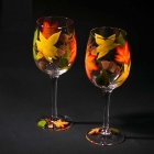 China Funky wine glasses hand painting wine glasses and personalised painted wine glasses supplier factory